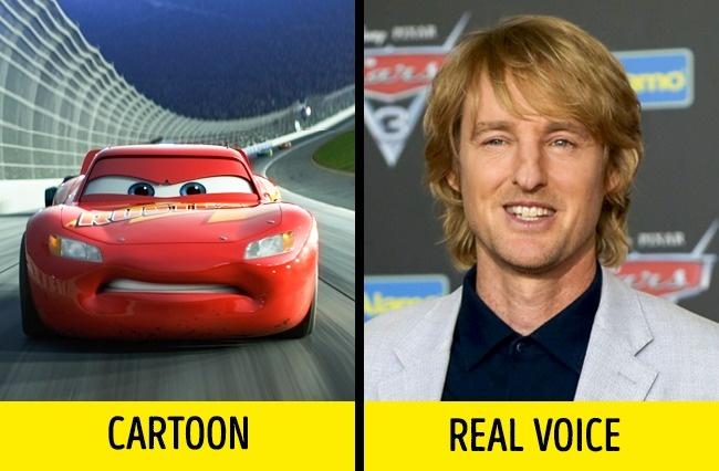 Lightning McQueen dalam serial Cars yang diisi oleh Owen Wilson. Ia berkata bahwa Lightning merupakan salah satu karakter terbaik yang pernah ia mainkan.