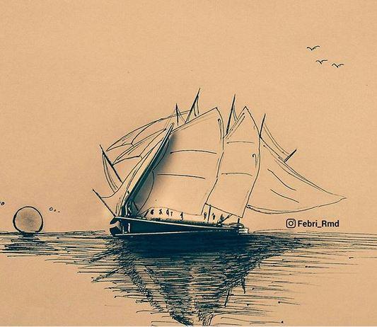 Ini dia perahu tak bermesin bikinan anak bangsa yang melegenda, perahu phinisi.