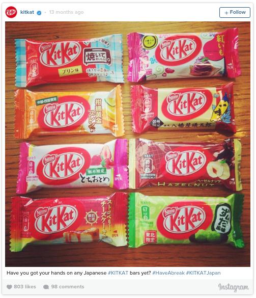 Bahkan di Jepang nih, ada banyak varian rasa 'KitKat'. Seperti green tea, miso, saus kacang, dan yubari.