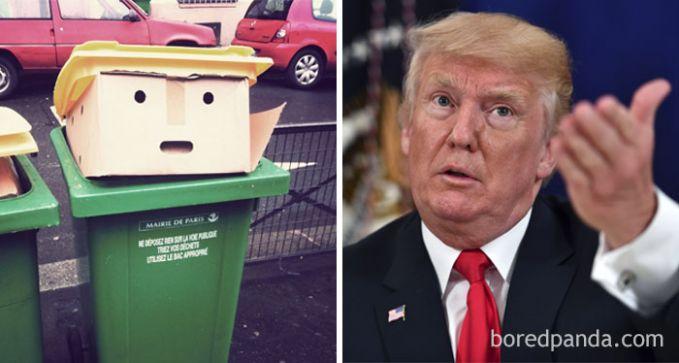 Jeli banget ya Pulsker mata netizen menangkap tumpukan kardus di tempat sampah. Sampai-sampai membandingkannya dengan sosok Donald Trump.