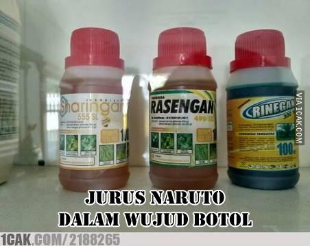 Kini, semua orang bisa beli jurus Naruto dalam kemasan Pulsker. Selain itu juga bisa untuk menyuburkan tanaman.