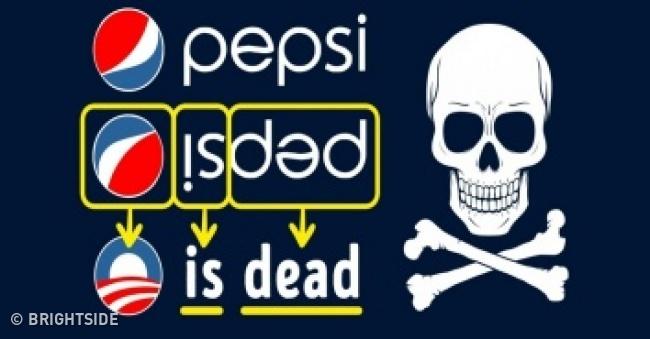 Coba deh kalian baca secara terbalik tulisan 'Pepsi'. Maka akan terbaca kata 'Is Dead'. Emang benar sih kalau mengkonsumsi minuman ini berlebihan kalian bakalan terserang penyakit dan mengakibatkan kematian. Nah, itu dia Pulsker makna dibalik logo dan nama merek terkenal di dunia yang nggak asing di telinga kita. Udah pada tau kan sekarang?.