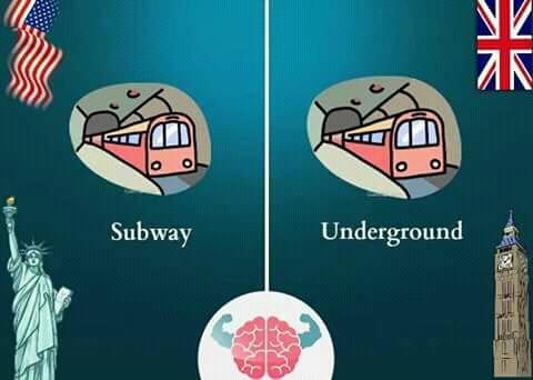 'Subway' adalah sebutan kereta bawah tanah di Amerika. Sedangkan 'underground' adalah istilah yang sama di Inggris. Tapi jika di AS 'underground' berarti bisa bermakna terselubung atau sesuatu yang ada di dalam tanah bahkan genre musik.