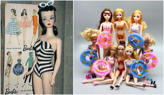 Kalau anak cewek udah pasti tau banget lah sama boneka Barbie?. Nggak cuma anak-anak aja, bahkan para orang tua pun banyak lho yang sampai sekarang yang mengoleksi. Nah, itu dia Pulsker tampilan awal beberapa produk dunia di awal kemunculannya dulu. Beda nggak menurut kalian?.