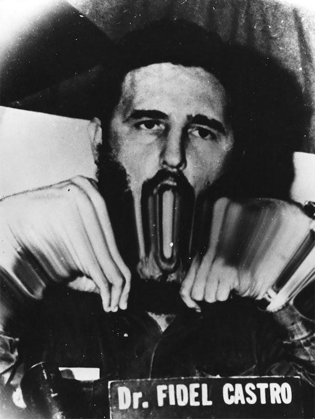 Ada juga Fidel Castro, pemimpin Kuba yang nggak luput dari sasaran manipulasi sang fotografer Weegee.