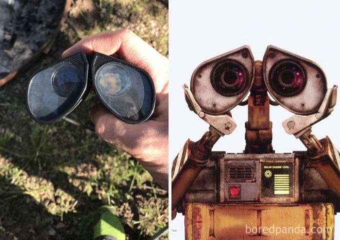 Teropong yang penampakannya seperti mata Wall-E.
