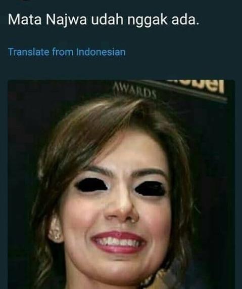 Ini benar-benar mata Najwa udah nggak ada :V