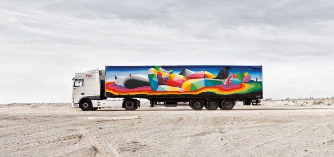 Paduan warna-warni nan indah ini adalah karya seniman bernama Okuda San Miguel.