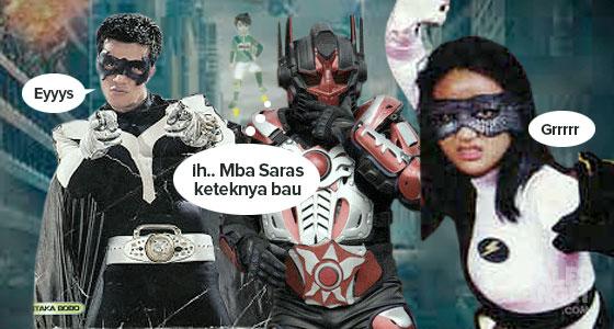 Kalau mereka berkumpul kayak gini, mirip 'The Avengers' ya?. Tapi ini versi Indonesianya.