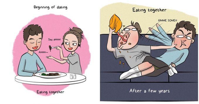 Dulu sih suap-suapan, kalau sekarang bodo amat, makan aja sendiri!
