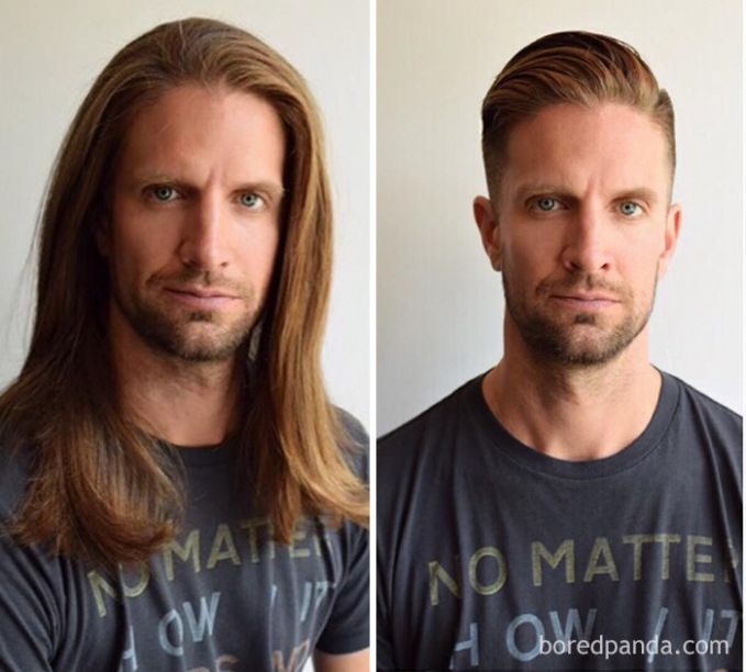 Sekali-sekali lah ganti penampilan dengan rambut pendek. Bosen sob rambut gondrong terus.