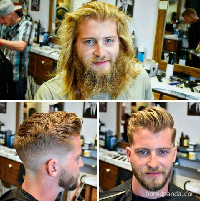Astaga, itu rambut sama jambangnya udah berapa bulan ya nggak dicukur dan dirapiin?. Sekarang, terlihat makin fresh aja nih.