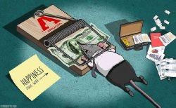 Ilustrasi Miris Manusia yang Selalu Dikendalikan Uang dalam Hidupnya