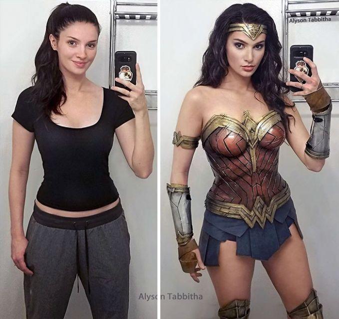 Wonder Woman Bahkan kecantikannya saat memerankan Wonder Woman ini nggak kalah sama Gal Gadot :D