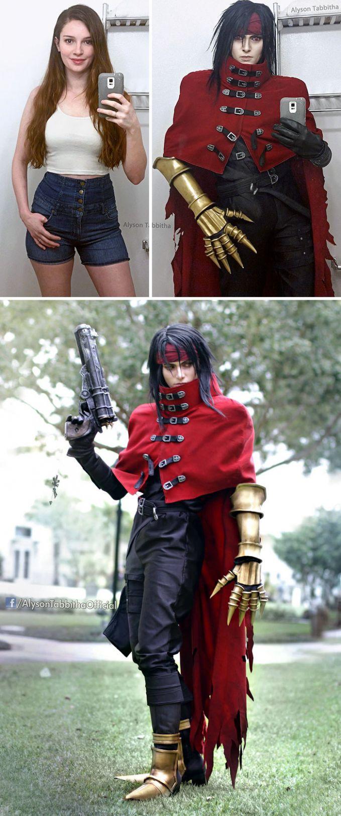 Vincent Valentine dari Final Fantasy Saking miripnya nih, bahkan kita nggak bisa membedakan dengan pemeran aslinya.