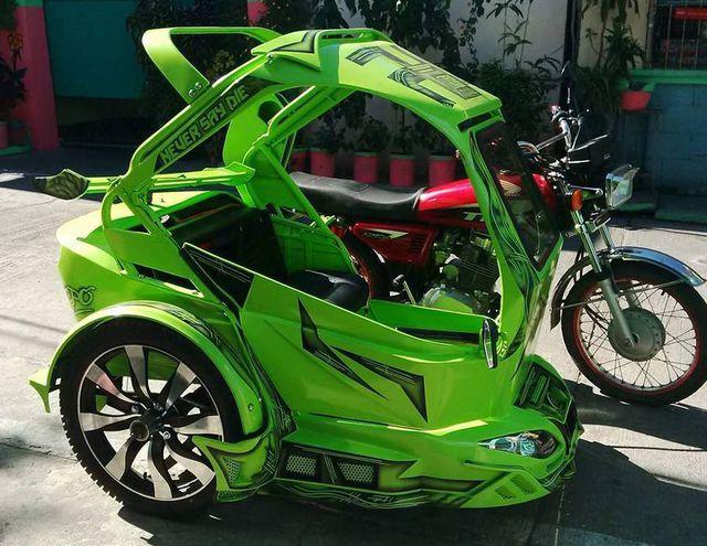 Velg bling-bling dan warna hijau klop banget sob.