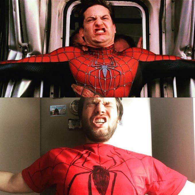 Kalau ini sih Spidermannya lagi kebelet banget ya gengs.