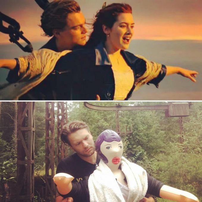 Nggak jadi romantis deh adegan Jack dan Rose dalam film Titanic versi Alexander Kravets. Ada-ada saja ya gengs cosplay low budget pak manajer asal Rusia satu ini.
