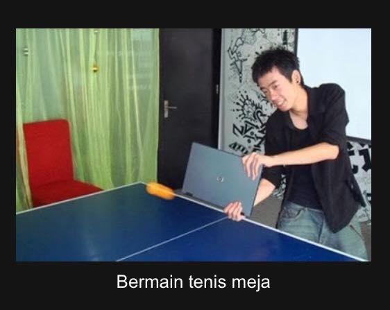 Main tenis meja biar makin greget dan mudah nabok bolanya pakai laptop gaes. Cocok buat para pemula.