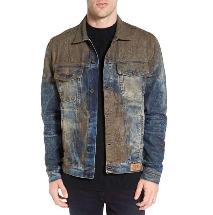 Beberapa waktu lalu juga lagi ngetren nih celana dan jaket jeans yang terlihat seperti terkena lumpur. Padahal sih nggak.
