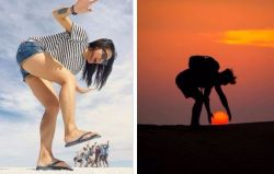 Abadikan Momen Liburanmu dengan Foto Ilusi Optik yang Keren Ini