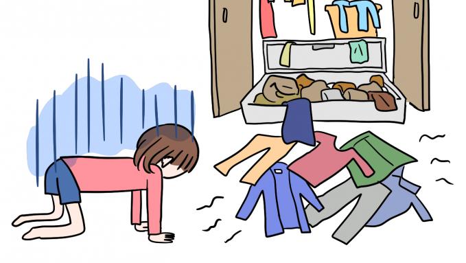 Ada banyak baju di lemari dan lagi-lagi selalu bilang aku nggak punya baju!!.