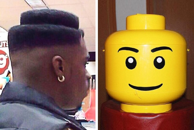 Gini nih kalau masa kecil kurang bahagia, udah dewasa pun gaya rambut dibikin ala lego gitu.