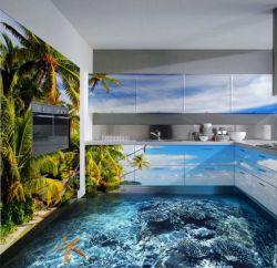 Desain Interior Rumah 3-Dimensi Bertema Underwater yang Bikin Seger