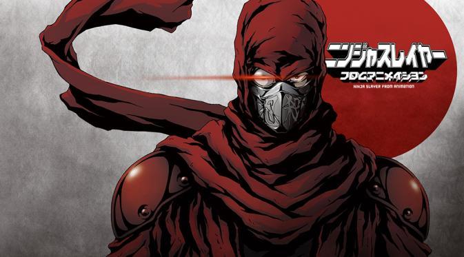 Ninja Slayer Walaupun bercerita tentang ninja, tapi latar belakang dari Ninja Slayer ini sangat modern yaitu dipenuhi dengan gedung-gedung pencakar langit. Tokoh utamanya beranama Kenji Fujikido yang dirasuki oleh roh ninja kuno yang memburu ninja bernama Ninja Slayer.