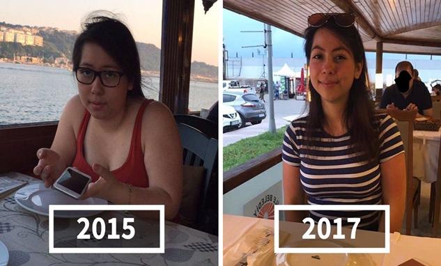 Dengan pola hidup sehat wanita ini pun dapat menurunkan berat badannya dalam dua tahun. Liat deh perbandingannya dulu dan sekarang.