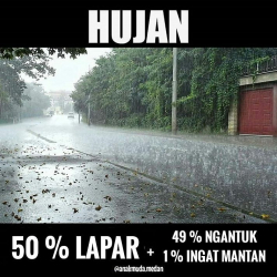 Deretan Meme Musim Hujan yang Bikin Kamu Gagal Galau