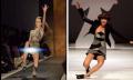 Foto Ekspresi Seorang Model Sesaat Sebelum Jatuh Diatas Catwalk