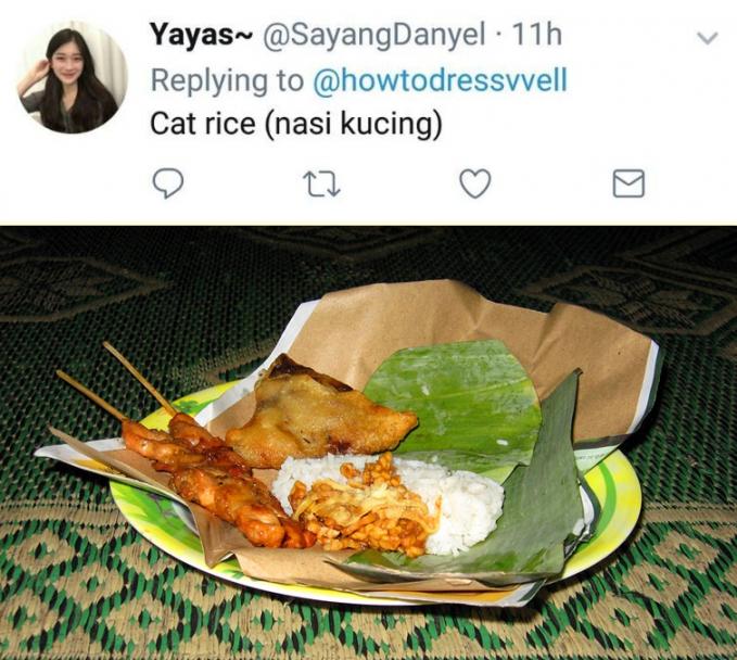 Jadi keren dukit lah kalau bilang mau makan cat rice :D