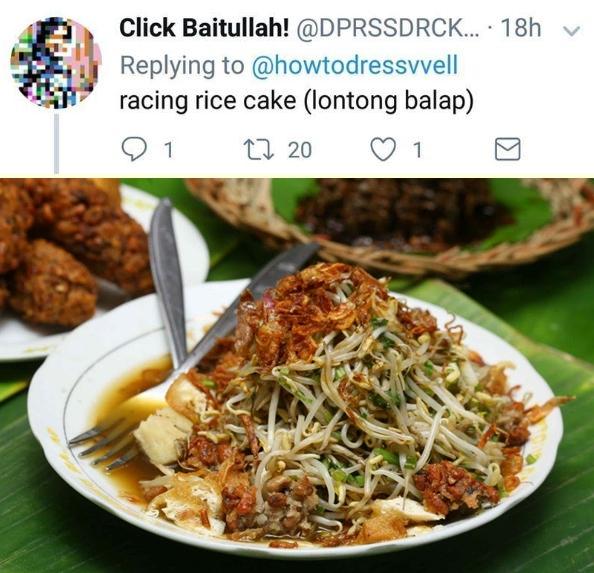 Lonton balap jadi racing rice cake..lucu banget nggak sih?!