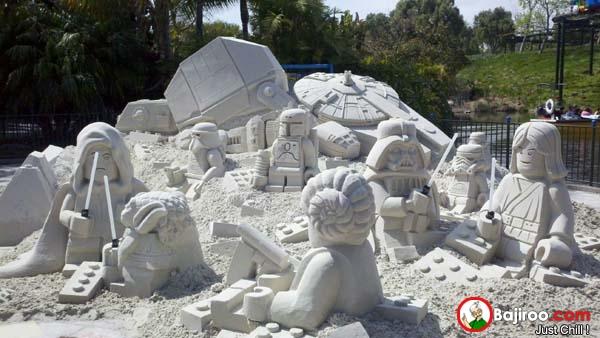 Keren-keren kan Pulsker patung pasir bertema Star Wars-nya?.