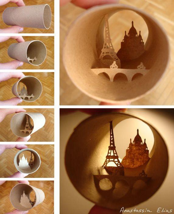 Nggak lupa miniatur menara Eiffel di kampung halaman tak luput dari karya seninya.