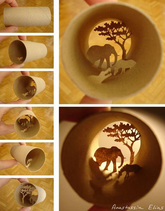 Nggak nyangka kan kalau gulungan tisu ternyata bisa dibikin karya seni sekeren ini?. Dengan kreativitas apa sih yang nggak bisa.