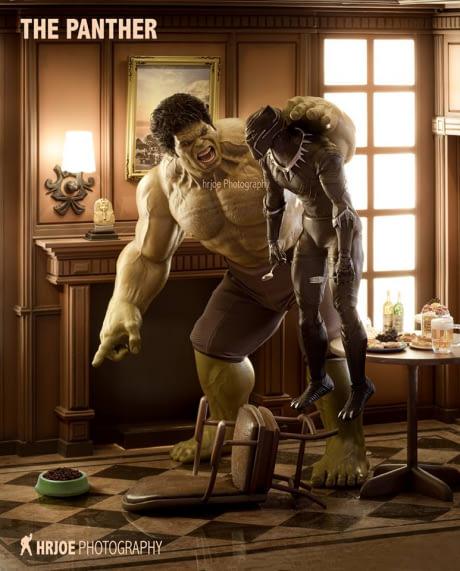 Jangan galak-galak dong Hulk sama hewan peliharaan.