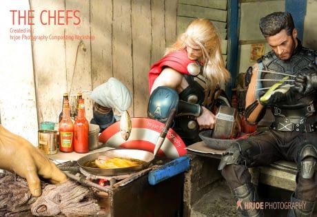 Gini nggak enaknya jadi superhero sob, masak ya masak sendiri bareng teman seperjuangan.
