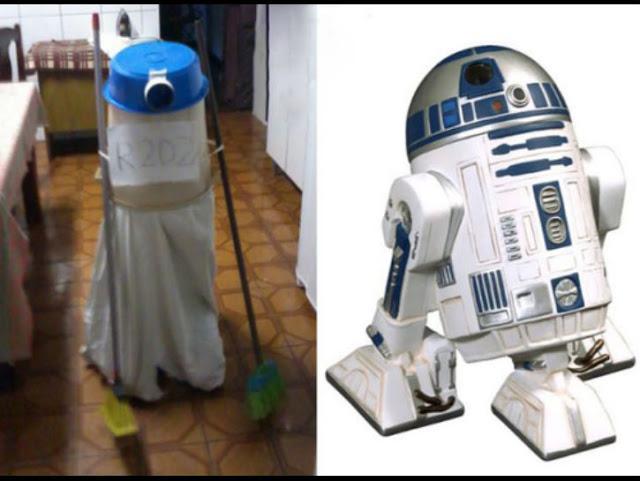 Asik juga kalau robot R2D2 bisa nyapu sama ngepel dirumah, ngebantu banget pastinya.