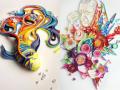 Berbekal Kertas Warna-Warni, Seniman Ini Berhasil Ciptakan Karya Seni Mengagumkan