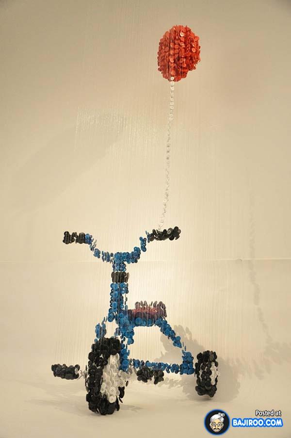 Jadi sepeda anak-anak lengkap dengan balonnya.
