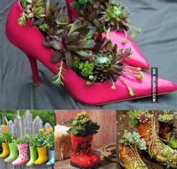 Jangan Buang Sepatu Bekasmu, Yuk Bikin Jadi Benda 8 DIY Kece Ini