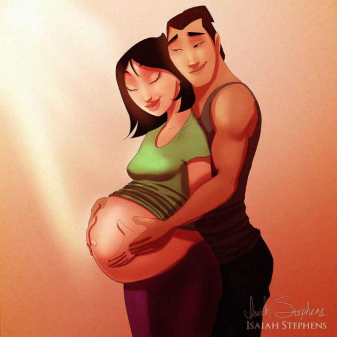 Mulan dan suaminya lagi pose menjelang proses kelahiran.