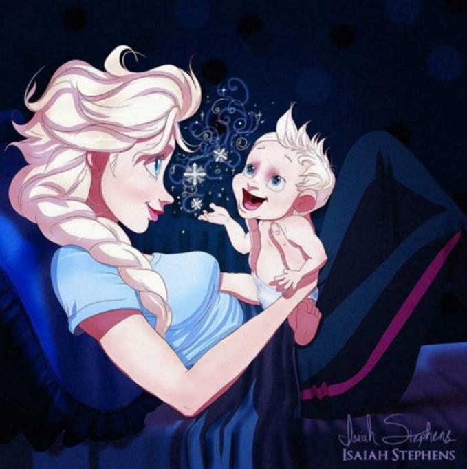 Putri Elsa lagi nikmatin waktu berharganya bareng sang anak kesayangannya.