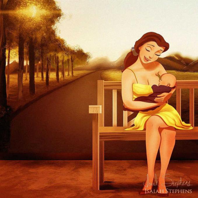 Minum asi biar bayi makin sehat, seperti yang dilakukan oleh Belle pada sang buah hati.
