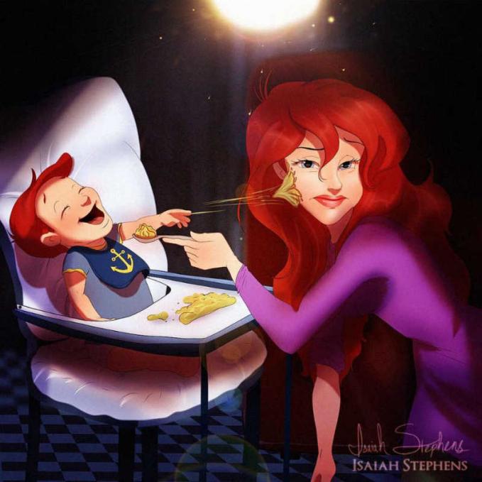 Anak Ariel lucu banget ya Pulsker. Coba kalau ada di dunia nyata, pasti gemesin.
