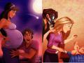 Kehidupan Para Putri Disney Jika Mereka Jadi Ibu Hamil dan Mengasuh Bayi
