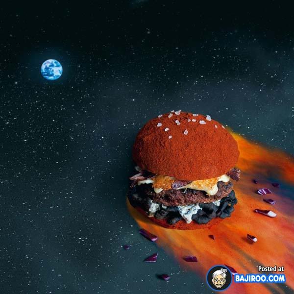 Tampilan yang terinspirasi dari komet yang menghantam bumi.