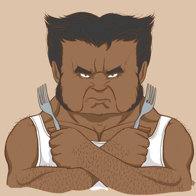 Ada pula Wolverine tampilannya seperti orang-orang Bihari.